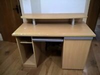 Office Desk With Pull Out Section