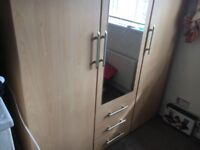 Large solid wardrobe vgc can deliver