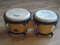 WOODEN BONGOS with adjustable steel straps - 'NINO'