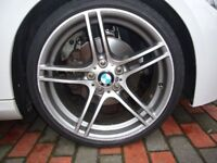"BMW E90 E91 E92 E93 E46 313 19"" ALLOY WHEEL WITH GOOD TYRE CAN POST ANYWHERE IN UK"