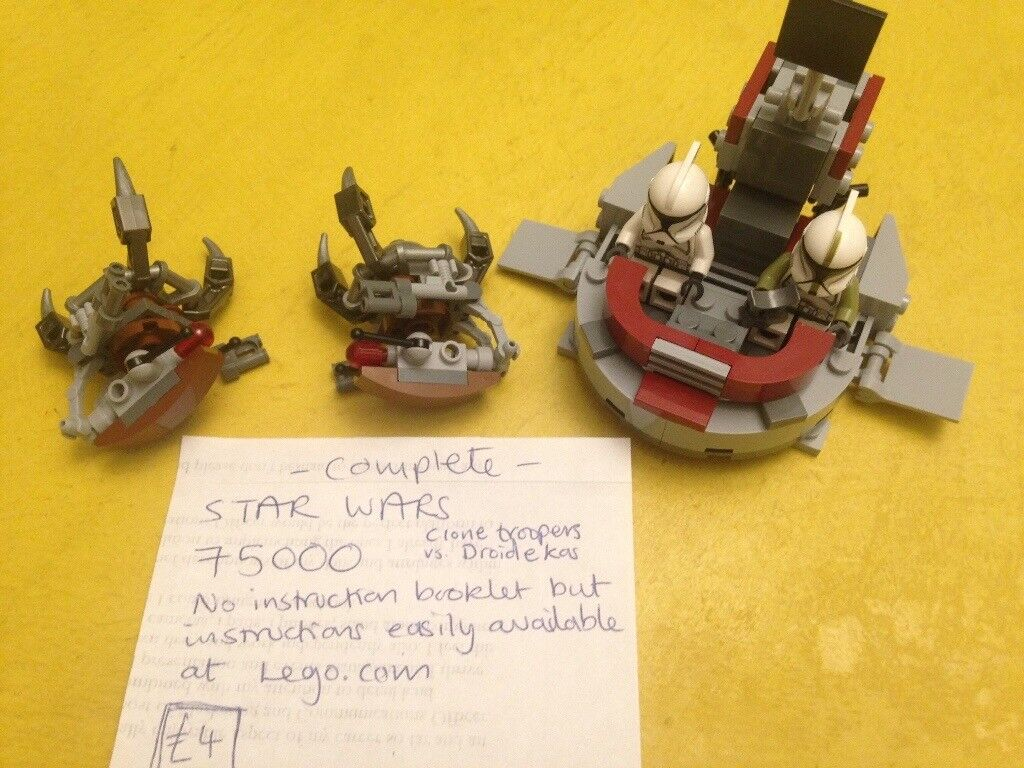 9 X Lego Star Wars Sets 9674 75015 75000 9489 9496 75049 9490 9494