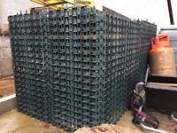 38m2 Bodpave cellular porous pavers, green
