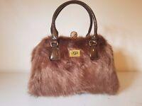 NEW! Furry Brown UGG Handbag