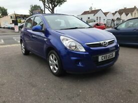 Hyundai I20 Blue 1.2 Petrol Manual 5 Door Hatchback 2011 Fantastic Car