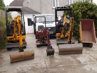 MICRO AND MINI DIGGER HIRE with DRIVER