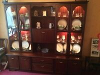 FREE Large Rossmore 8500 Mahogany Display Cabinet suitable for upcycling