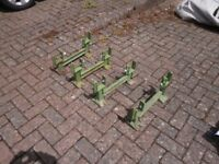 Beer Keg/Barrel Storage System - Cast Iron Bases