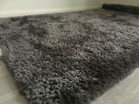Dunelm grey shaggy rug