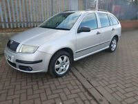 2005 55 SKODA FABIA 1.4 TDI DIESEL ESTATE CHEAP TAX AUGUST 2018 MOT 55+ MPG ALLOYS AIR CON PAS 2KEYS