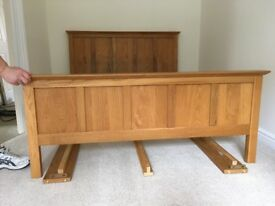 Oak Double Bed Frame and 2 Bedside Tables (Next - Cambridge Oak)