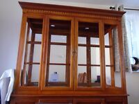Wooden display cabinet (matching dining room table available)
