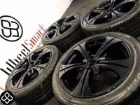 NEW 17'' ALLOY WHEELS & TYRES-4 X 100- CRYSTAL BLACK-(VW,Vauxhall,Honda,Nissan,Mini) Wheel Smart