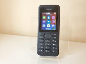 Nokia 130 Black - Dual SIM - Unlocked - Mobile Phone with TORCH