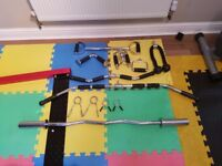 Olympic EZ Curling Bar and Cable Attachments