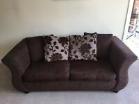 Excellent condition sofabed, snuggle chair and footstool
