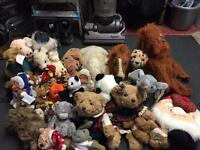 Collection of assorted soft toys £10