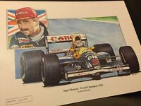 Limited Edition Print Nigel Mansell 1992 World Champion