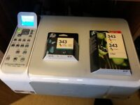 HP Photosmart c4180 all in one printer with genuine hp ink cartridges
