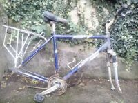 Raleigh Bicycle frame & Pannier