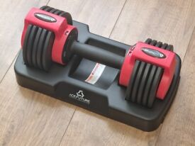 Adjustable Dumbbell, Free Hand Weights for Home Gym Workout