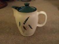 Denby Greenwheat coffee pot (2 pint) and jug (1 pint) for sale. £20 ono