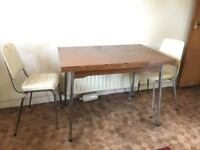 Vintage retro antique kitchen table and chairs £90