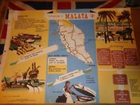 Vintage 1950's Educational Wall Poster Empire Information Project - Federation of Malaya (2)