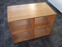 Pine Storage Cabinet Unit, Book Case, Cube Unit Toy Collection From Essex SS6 Not Ikea