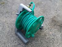 Hozelock garden hose on reel