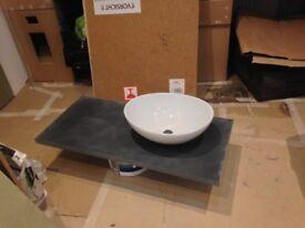 oval basin & pop waste