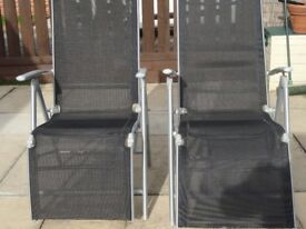 Garden Chairs folding £30 pr