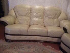 3 pc Leather Sofa Suite