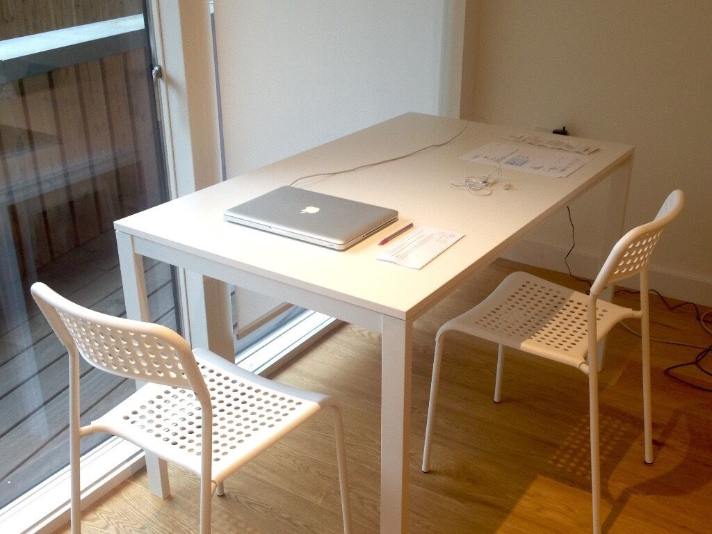 ikea melltorp table 4 ikea adde chairs in guildford surrey gumtree. Black Bedroom Furniture Sets. Home Design Ideas