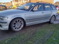 BMW 330d AUTO M SPORT TOURING FSH LEATHER INTERIOR MV ALLOYS MAY SWAP OR CHEAP PART EXCHANGE WHY?