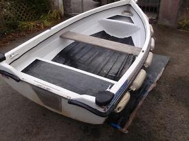 11 feet Orkney Angler fibreglass dinghy.