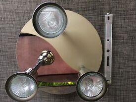 3 Way Spotlight Round Ceiling Light Fitting.