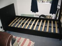 Single Bed (Leather Effect). Good condition, Collection only. LA2 7LA £20