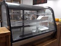Stainless steel counter top 2 shelf server/prep refrigerator
