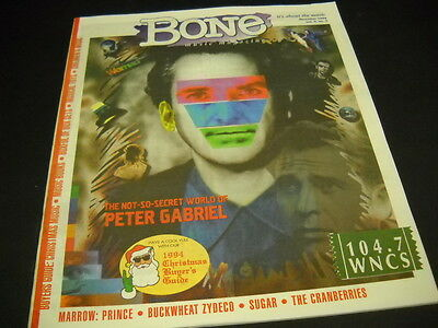 PETER GABRIEL cover story December 1994 BONE magazine - super mint condition