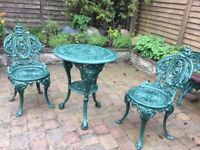 Vintage cast iron patio furniture
