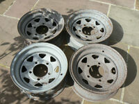 "Four 16"" steel wheels (Ex Series 3 Land Rover)"