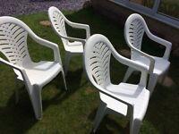 Free heavy duty plastic garden chairs