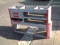 Van shelving metal unit, cost over £500 when new, bargain £175 ono