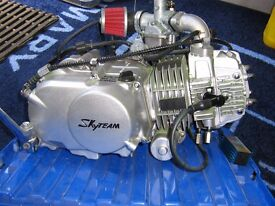 SKYTEAM 125cc MONKEY BIKE ENGINE, ALMOST NEW Only 200 miles done.
