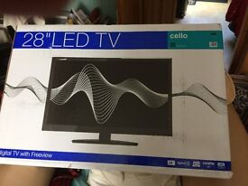 """*Brand new* Cello 28"""" LED Television for sale. Collection only from Truro Cornwall."""
