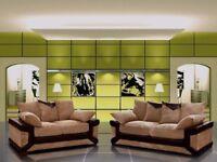 BEST IN TOWN -- Brand New Dino Jumbo cord Corner or 3 + 2 Sofa in black/grey or brown/beige