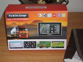 pro drive truck r v caravan satnav with t m c traffic antenna cable fully boxed