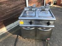 3phase commercial double chip fryer