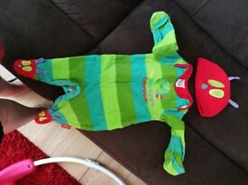 My hungry Caterpillar baby grow size 0-3 month in excellent condition worn twice