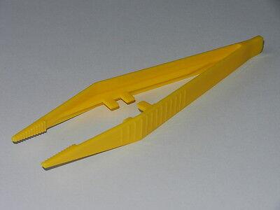 Pk of 10 - Plastic Tweezers 'Suregrip' design - Yellow